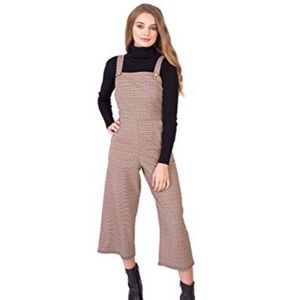 Bebop Plaid Wide Leg Jumpsuit Overalls